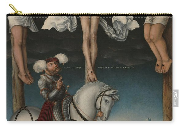 The Crucifixion With The Converted Centurion Carry-all Pouch