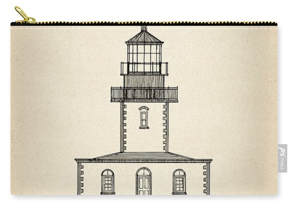 Tillamook Rock Lighthouse - Oregon  - Blueprint Drawing Carry-all Pouch