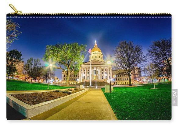 Topeka Kansas Downtown At Night Carry-all Pouch