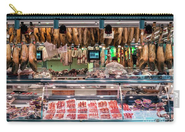 Traditional Spanish Cured Meats And Sausages La Boqueria Market  Carry-all Pouch