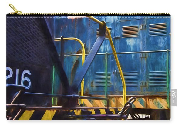 2 Trains Painterly Impression Carry-all Pouch