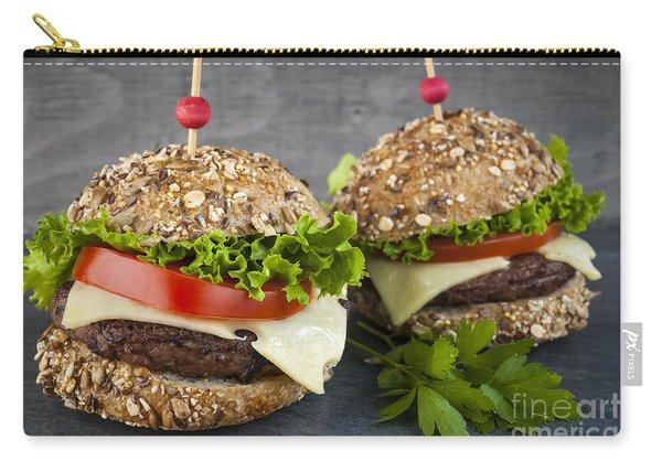 Two Gourmet Hamburgers Carry-all Pouch