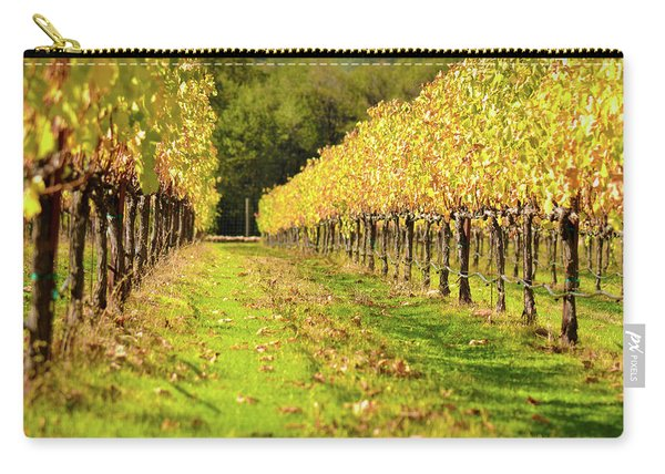 Vineyard In The Fall Carry-all Pouch