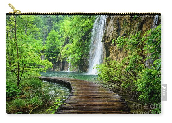 Walking Through Waterfalls - Plitvice Lakes National Park, Croatia Carry-all Pouch