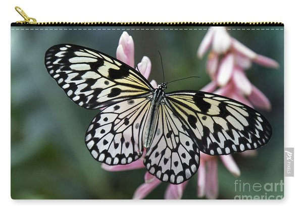 White Tree Nymph Butterfly Carry-all Pouch