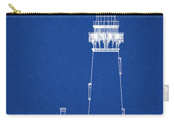 Yaquina Head Lighthouse - Oregon - Blueprint Drawing Carry-all Pouch
