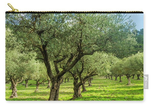 Young Olive Grove Carry-all Pouch