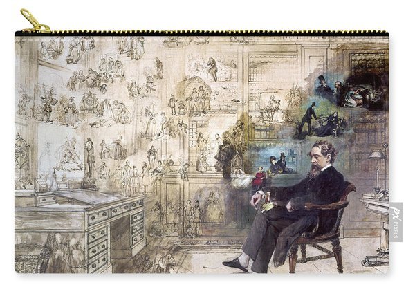 Charles Dickens 1812-1870.  To License For Professional Use Visit Granger.com Carry-all Pouch
