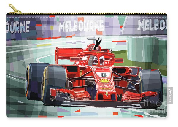 2018 Australian Gp Ferrari Sf71h Vettel Winner  Carry-all Pouch