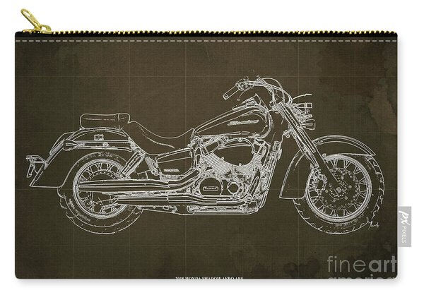 2018 Honda Shadow Aero Abs Blueprint, Brown Blueprint, Gift For Dad Carry-all Pouch