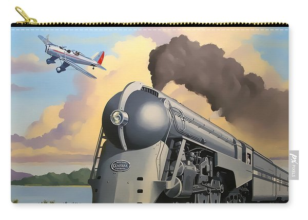 20th Century Limited And Plane Carry-all Pouch