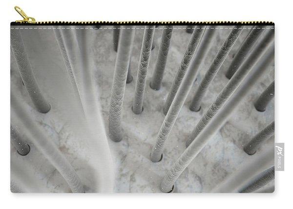 Microscopic Hair Fibers Carry-all Pouch