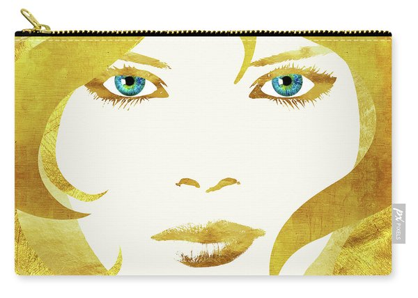 24 Karat Babe, Woman In Gold Fashion Art Carry-all Pouch