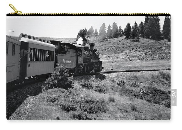 Carry-all Pouch featuring the photograph 25 Miles Per Hour by Ron Cline