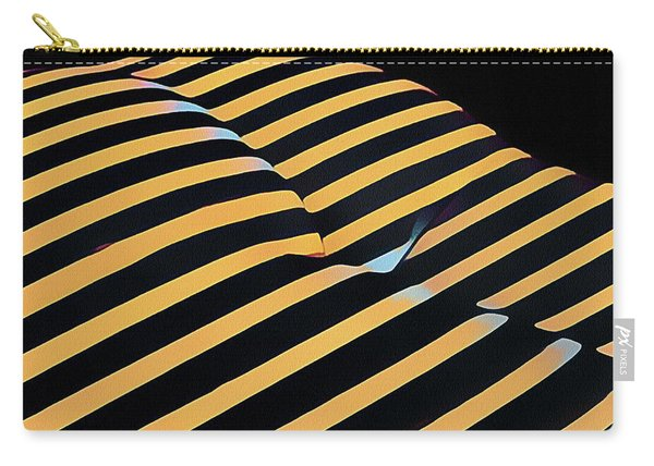2612s-ak Abstract Rear Butt Bum Thighs Zebra Striped Woman In Composition Style Carry-all Pouch