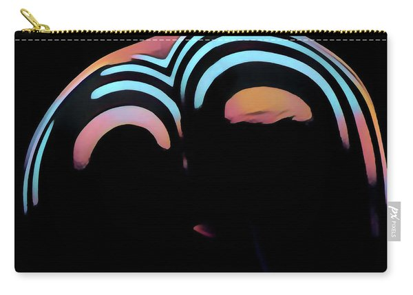 2696s-ak Zebra Striped Woman Rear View In Composition Style Carry-all Pouch