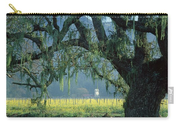 2b6319 Mustard In The Oaks Sonoma Ca Carry-all Pouch