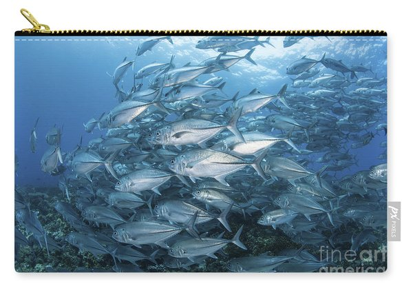 A School Of Bigeye Jacks Swimming Carry-all Pouch