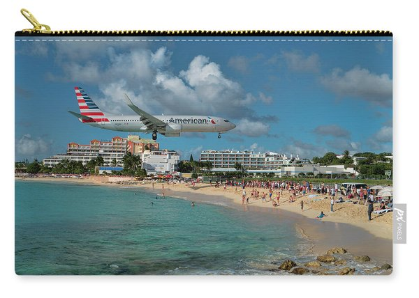 American Airlines At St. Maarten Carry-all Pouch