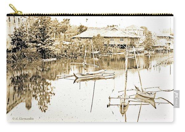 Arrow Head Lake, Philippine Village, 1904 Worlds Fair, Vintage P Carry-all Pouch