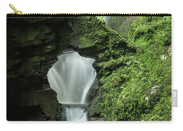 Beautiful Flowing Waterfall With Magical Fairytale Feel In Lush  Carry-all Pouch