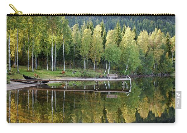 Birches And Reflection Carry-all Pouch