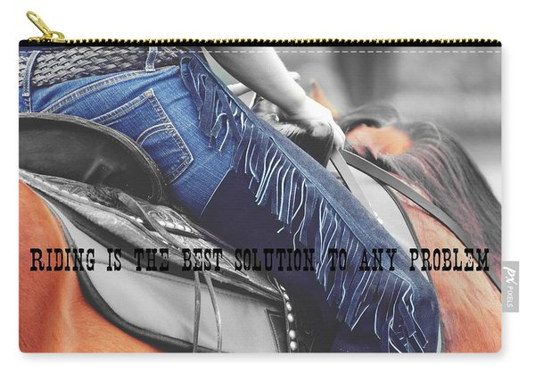 Blue Chaps Quote Carry-all Pouch