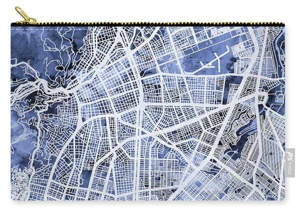 Cali Colombia City Map Carry-all Pouch