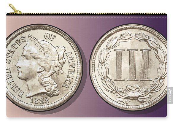 3 Cent Nickel Carry-all Pouch
