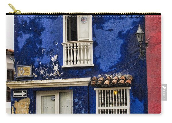 Colonial Buildings In Old Cartagena Colombia Carry-all Pouch