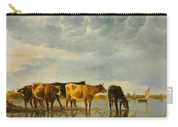 Cows In A River Carry-all Pouch