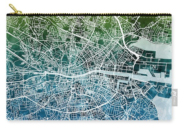 Dublin Ireland City Map Carry-all Pouch