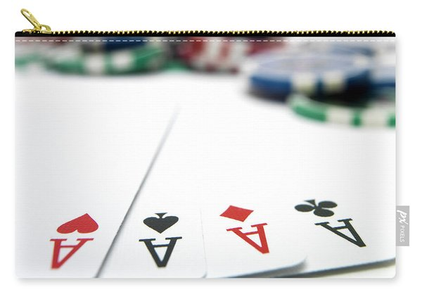 Four Aces And Gambling Carry-all Pouch
