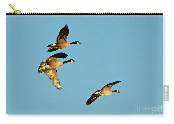 3 Geese In Flight Carry-all Pouch