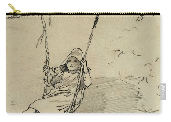 Girl On A Swing Carry-all Pouch
