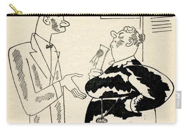 Illustration By Ralph Barton 1891 To Carry-all Pouch