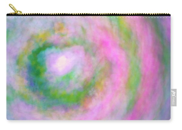 Carry-all Pouch featuring the photograph Impression Series - Floral Galaxies by Ranjay Mitra