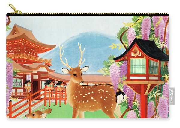 Japan Vintage Travel Poster Restored Carry-all Pouch