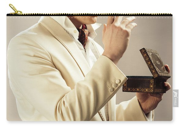 Model Playing Errol Flynn Character Carry-all Pouch