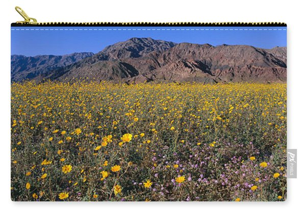 Panoramic View Of Desert Lillies Carry-all Pouch