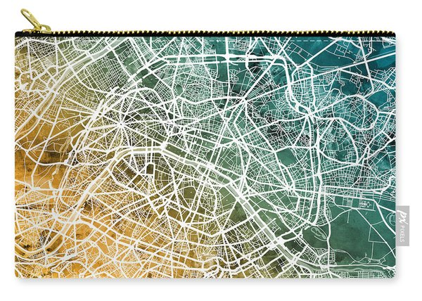 Paris France City Street Map Carry-all Pouch