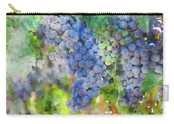 Red Wine Grapes On The Vine Carry-all Pouch