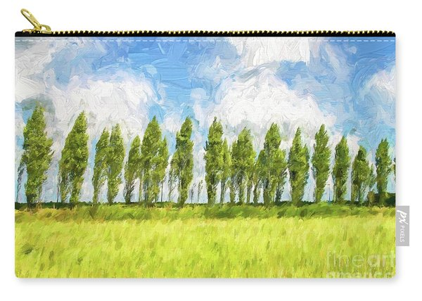Row Of Trees In The Wind Carry-all Pouch