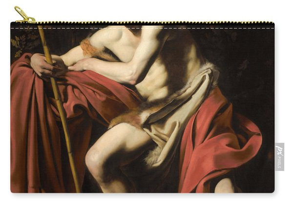 Saint John The Baptist In The Wilderness Carry-all Pouch