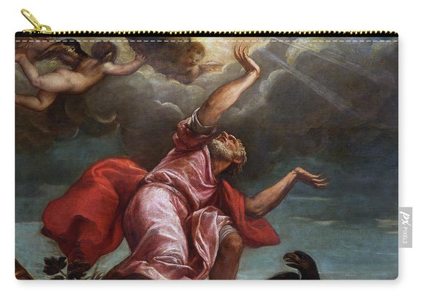 Saint John The Evangelist On Patmos Carry-all Pouch