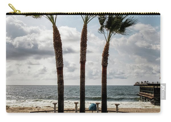 Carry-all Pouch featuring the photograph 3 Trees by Eric Lake