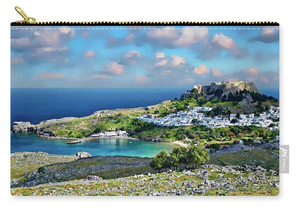 Village Of Lindos Carry-all Pouch