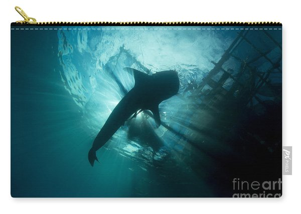 Whale Shark Swimming Up To The Surface Carry-all Pouch