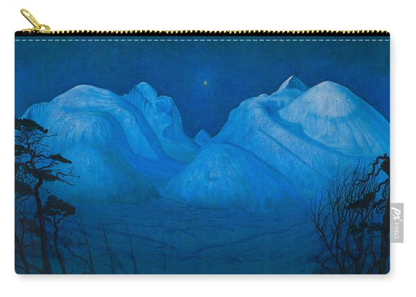 Winter Night In The Mountains Carry-all Pouch