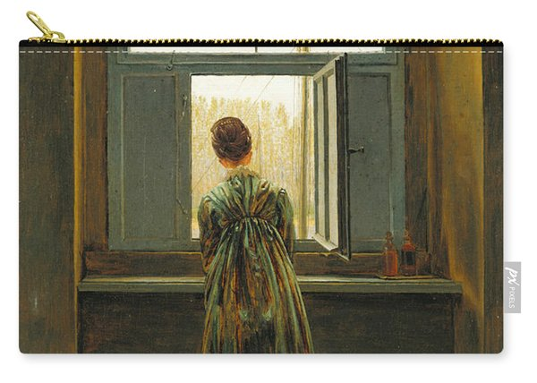 Woman At A Window Carry-all Pouch